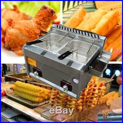 10L Commercial stainless steel LPG gas deep fryer for churros french fries