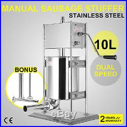 10L Sausage Stuffer Meat Maker Machine Vertical Stainless Steel Commercial