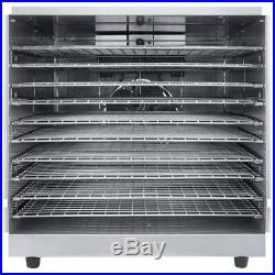10 Rack Tray Commercial Stainless Steel Food Dehydrator with Removable Door