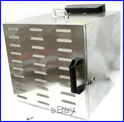 10 Tray Food Dehydrator Stainless Fruit Jerky Dryer Blower Commercial 1000W