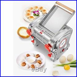 110V Electric Pasta Maker Dough Roller Noodle Machine Commercial Stainless Steel