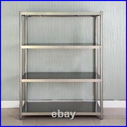 120cm Work Food Prep Table Shelf Stainless Steel Commercial Kitchen Rack Storage