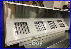 12ft Stainless Steel Commercial Kitchen Canopy Wall Exhaust Hood