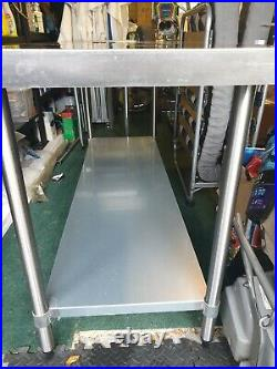 180x70cm Stainless Steel Commercial Catering Table Kitchen WorkTop Prep Table