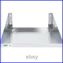 24 x 24 Stainless Steel Commercial Restaurant Microwave Wall Mount Shelf NSF