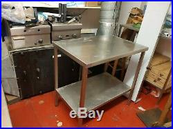 2 Commercial Stainless Steel Work Bench Kitchen Catering Table Worktop