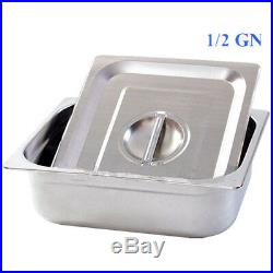 2 pots Wet Well Bain Marie Electric Sauce Food Warmer Commercial Stainless Pans