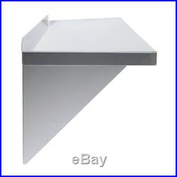 2 x Displaypro Stainless Steel Shelves, Commercial Kitchen Clean Room Wall Shelf