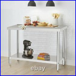 2ft to 6ft Commercial Work Bench Stainless Steel Kitchen Worktop Catering Table
