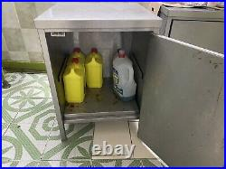 2x2FT Stainless Steel Work Bench Commercial Catering Cabinet Kitchen