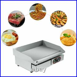 3000W Electric Countertop Griddle Commercial Home Kitchen Hot Plate Bacon Grill