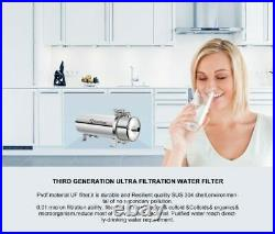 304 Stainless Steel Water Filter PVDF Ultra Filtration Purifier 1000L Com Home