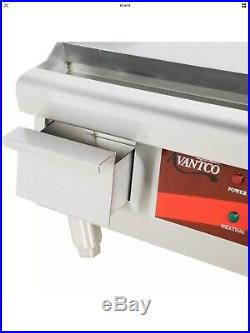 36 Electric Stainless Steel Countertop Commercial Restaurant Flat Top Griddle