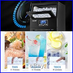38KG Commercial Home LCD Display Ice Cube Maker Machine Stainless Steel ICEMAKER