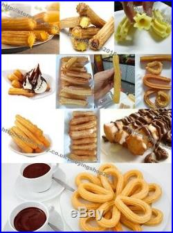 3L Home Commercial Stainless Steel Hand Crank Horizontal Churros Maker Machine
