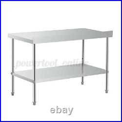 3/4/5FT Commercial Stainless Steel Kitchen Equipment Catering Table Work Bench