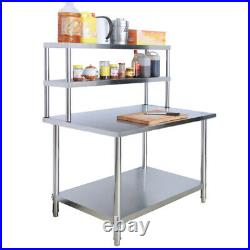 3ft-6ft Stainless Steel Work Table Bench Commercial Catering Kitchen Prep Shelf