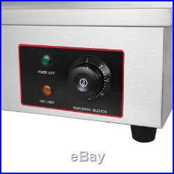 4400W Commercial Electric Griddle Hotplate BBQ Grill Large Countertop Kitchen UK