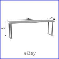 4FT Stainless Steel Commercial Work Table Top Kitchen with Extra Single Over Shelf