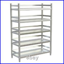 4/5 Tier Kitchen Shelf Stainless Steel Commercial Catering Shelving Storage Unit