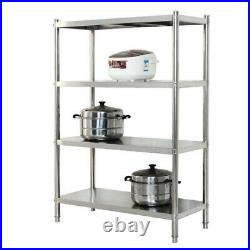 4/5 Tier Stainless Steel Kitchen Shelving Commercial Standing Shelf Storage Rack
