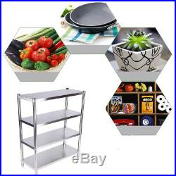4 Tier Storage Rack Shelf 201 Stainless Steel Commercial Kitchen