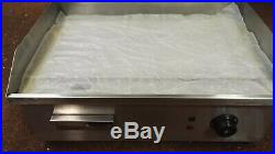 54CM Commercial Electric Griddle Flat Hotplate Kitchen BBQ Grill Stainless Steel
