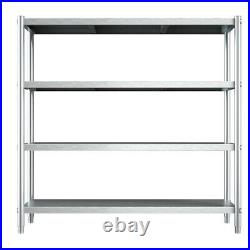 5FT Kitchen Storage Shelf Stainless Steel Commercial Shelving 150x50x150cm