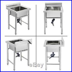 60 X 60cm Kitchen Sink Stainless Steel Handmade Commercial Sink Basin Wash Table