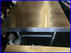 60x60cm Stainless Steel Commercial Catering Table Kitchen WorkTop Prep Table