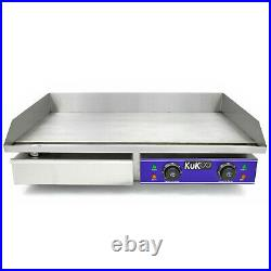 73cm Commercial Electric Griddle Countertop Kitchen Hotplate Stainless Steel