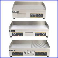 73cm Electric Griddle Commercial Flat Kitchen Hotplate BBQ Grill Stainless Steel