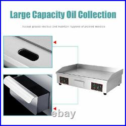 73cm Large Electric Countertop Griddle Commercial Kitchen Hot Plate Bacon Grill