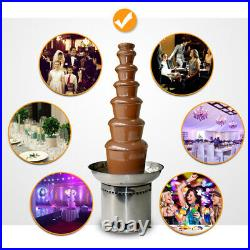 7 Tiers 110V Rotary Knob Commercial Chocolate Fountain Fondue Stainless Steel