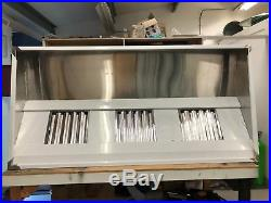 7ft Stainless Steel Commercial Kitchen Canopy (2135mm) Wall Exhaust Hood