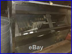7ft Stainless Steel Commercial Kitchen Canopy Wall Exhaust Hood Extractor System