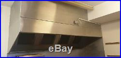 8ft Stainless Steel Commercial Kitchen Canopy Cooker Hood Extraction Hood