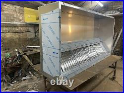 8ft Stainless Steel Commercial Kitchen Canopy Cooker Hood Extraction Hood 304