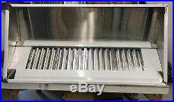 8ft Stainless Steel Commercial Kitchen Canopy Wall Exhaust Hood Extractor System