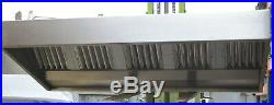 8ft Stainless Steel Commercial Kitchen Extraction Canopy Cooker Hood new filter