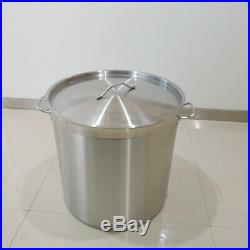 98L Large Deep Stock Pot Commercial Stainless Steel Stockpot Stew Soup Saucepan