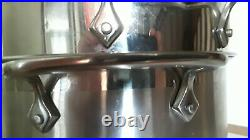 All-Clad 4pc Commercial Stainless Steel 1318qt Stockpot with 2 Steamer Baskets