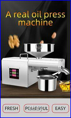 Automatic Oil Press Extraction Machine Expeller Commercial Home Stainless Steel