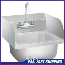 Best! Commercial Hand Wash Sink with Faucet Stainless Steel Kitchen Basin