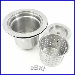 Brushed Stainless Steel Single Bowl Commercial Style Top Mount Kitchen Sink