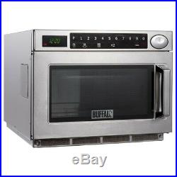 Buffalo Programmable Commercial Microwave Oven 1500W Stainless Steel Silver