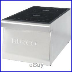Burco CTIN01 Commercial 2 Zone Induction Hob in Stainless Steel FA8847