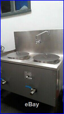 Chinese Noodle Boiler for Commercial Kitchen Stainless, Gas, twin pot