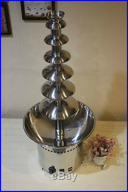 Chocolate Waterfall Fountain Tower 7 Tiers Commercial Party Accessories Auger