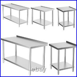 Classics Commercial Stainless Steel Table Work Bench 2FT-6FT Worktop Kitchen Use